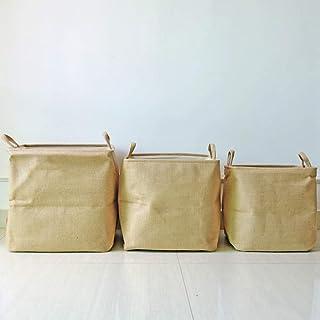 HQQSC Boîte de Rangement Tissu Tissu Boîte de Rangement avec poignée Pliante Panier de Jouet à Linge ménage Boîte de Range...
