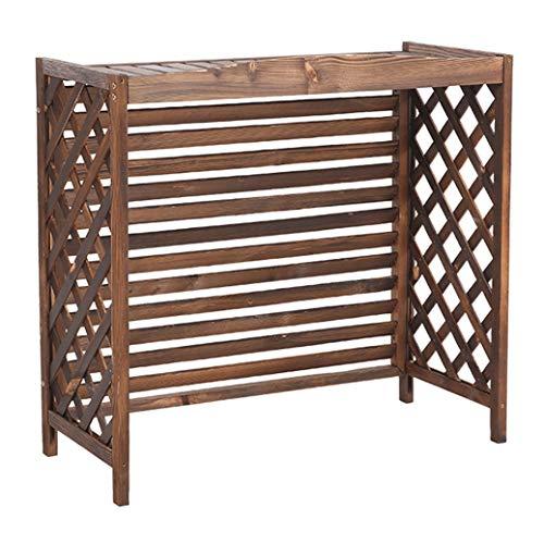 LCJ Holz Blume Stand Klimaanlage Rahmen dekorative Kühlerabdeckung, Sichtschutz aus Holz für Klimageräte oder Wärmepumpe Pflanze Heizkörper Abdeckung Display Stand