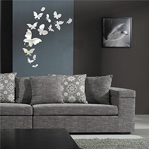 LifeUp- 20 Farfalle Adesivi Murali Frasi Soggiorno Camera da Letto Tono Specchio Adesivi da Pareti Muri Decorazione Casa