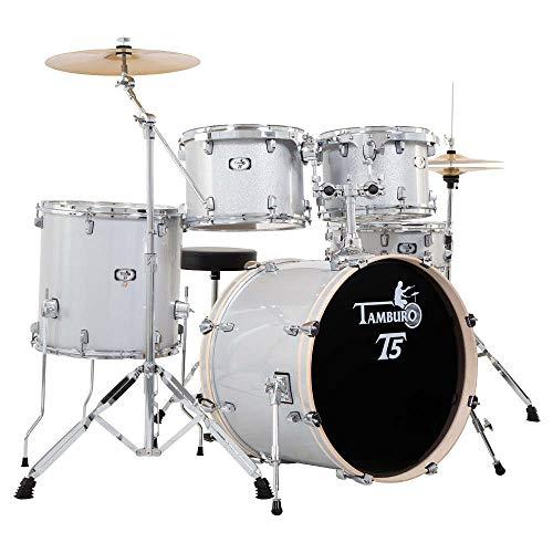 Batería Acústica Tambor New T5t5s22slsk Silver Sparkle + Platos +