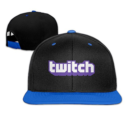 Hittings Twitch Logo Adjustable Snapback Hip-hop Cap Baseball Hats Royalblue