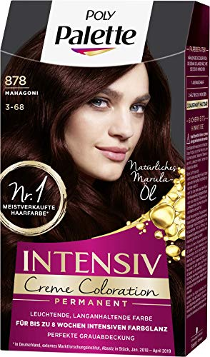 SCHWARZKOPF POLY PALETTE Intensiv Creme Coloration 878/3-68 Mahagoni, 3er Pack (3 x 128 ml)