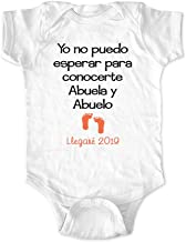 Yo no puedo esperar para conocerte Abuela y Abuelo Llegare 2019 - Grandma and Grandpa Spanish