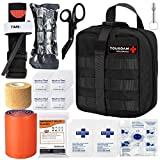 1. TOUROAM IFAK Molle Trauma Kit- Emergency Survival First Aid Kit, Military Tachtical Admin Pouch EMT, Bug Out Bag Camping Gear Supplies Hiking Car