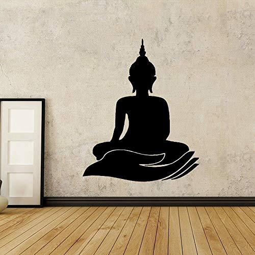 Pegatinas de pared Adhesivos Pared Calcomanías artísticas de vinilo para dormitorio de Buda con diseño para sala de estar, pegatinas religiosas, papel tapiz, decoración del hogar extraíble 61x76cm