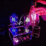 WEHOLY Musikfestival Musikspule Physikalische Wissenschaft Experimentierausrüstung Spielzeug 10Cm künstlicher Blitzgenerator Desktop-Spielzeug Berührbare hocheffiziente Wissenschaftsspule Magic Prop