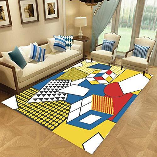Pgron Mejor PrecioCubo de Rubik Rectangular Sala de Estar Dormitorio Mesa de café Suave Alfombra Antideslizante Lavable, 160 × 230 cm