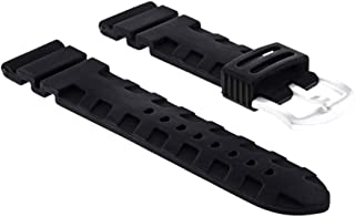 24MM Rubber Diver Watch Band Strap for PANERAI Accordion Submersible Models #2R