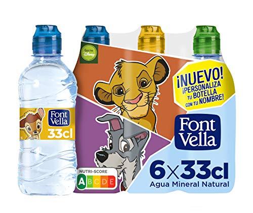 Font Vella Agua Mineral con Tapón Infantil, 6 x 33cl