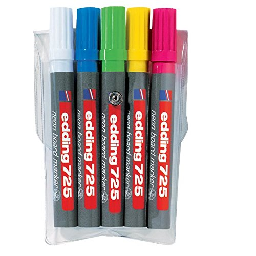 edding 725 Neon-Boardmarker Keilspitze 5-stück farblich sortiert