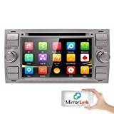 Silber 7 Zoll 2 Din Autoradio Moniceiver DVD GPS Bluetooth Navigation für Ford C-Max/Connect/Fiesta/Focus/Fusion/Galaxy/Kuga S-Max/Transit/Mondeo