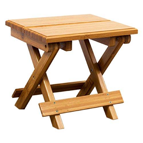 WAYMX Chaise Pliante en Bambou Portable pêche en Plein air Petit Banc en Bois Massif Tabouret Maison Adulte charge-Bearing100Kg