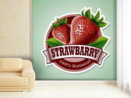 Fotobehang Fresh Fruits stickers in verschillende maten - naar keuze als papier of vliesbehang 280x270cm