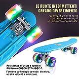 Zoom IMG-1 cutemelo skateboards 55cm mini cruiser