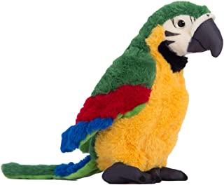 Foreen 25cm Simulation Plush Parrot Bird Plush Stuffed Doll Table Sofa Decor Party Favor Gifts Toys for Boys Girls Kids Toddlers Green