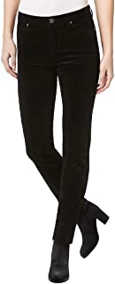 Buffalo David Bitton Women's Mid-Rise Slim and Sculpt Skinny Cords, Black, 6/28
