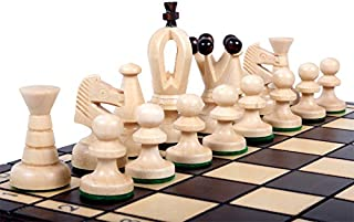 The Veles Chess Set, Wooden Handmade European Chess Pieces, 2.3 Inch Tall King, Storage Chess Board 11.75 x 11.75 Inch, ChessCemtral's Carpathian Collection Board Game