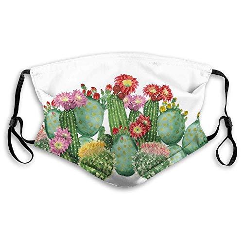 Kaktus, Saguaro Fass Hecke Schwein Feigenkaktus Opuntia Tropische Botanik Gartenpflanzen Druck, Mehrfarbig Wiederverwendbar Für Camping Laufen