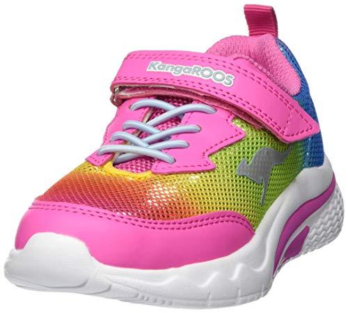 KangaROOS Unisex-Kinder KK EV Sneaker, Rot (Daisy Pink/Rainbow 6183), 25 EU