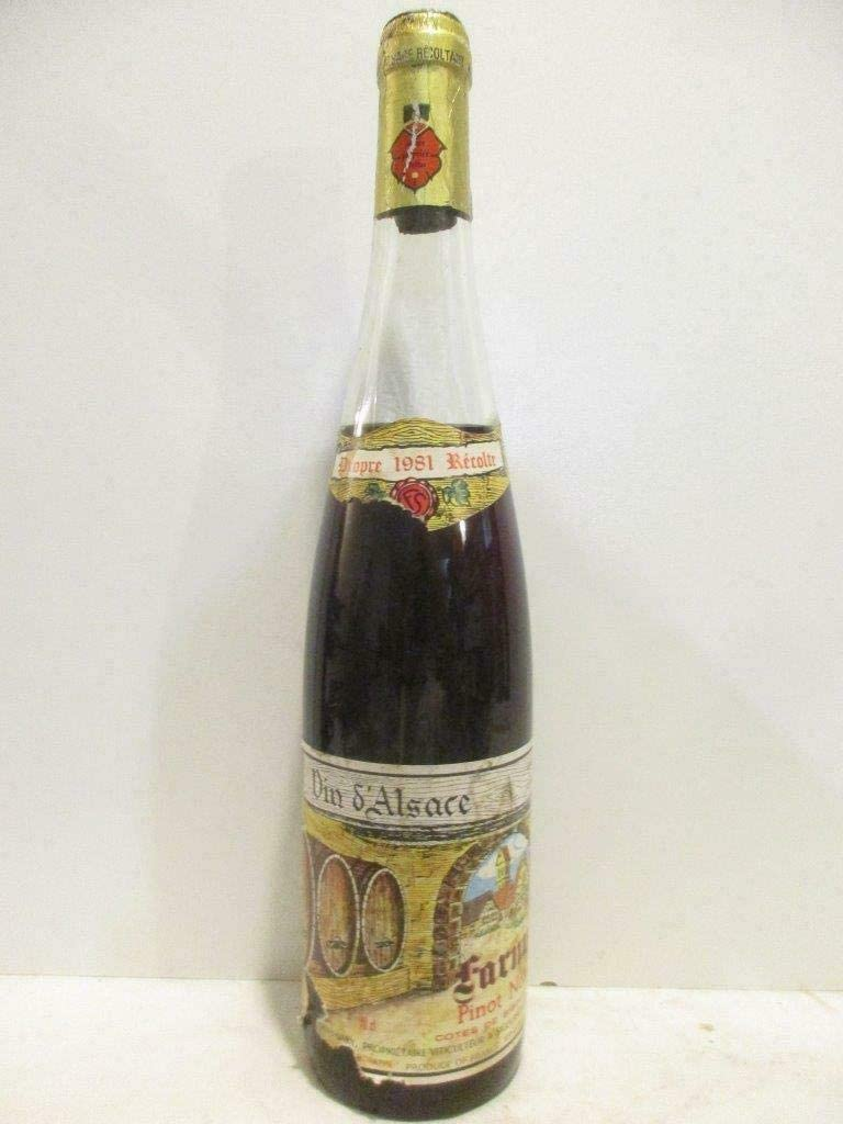 pinot noir farny-sary rouge 1981 - alsace