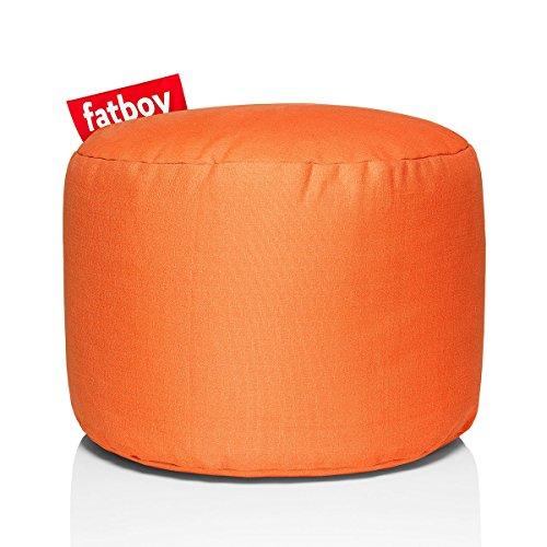 Fatboy® Point Stonewashed orange Hocker | Runder Sitzhocker aus Baumwolle | Trendiger Poef/Fußbank/Beistelltisch | 35 x ø 50 cm