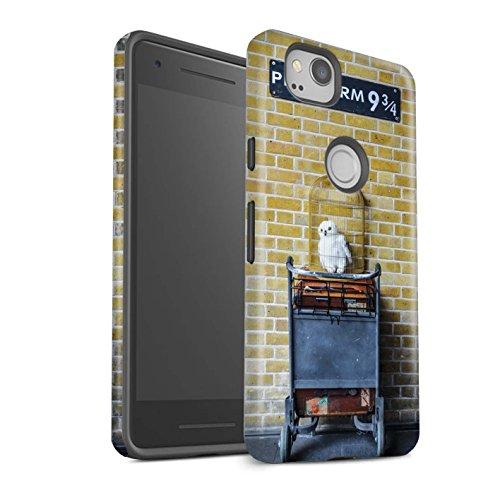 Stuff4 matte schokbestendige beschermhoes/cover/behuizing/telefoon voor Google Pixel 2 / platform 9 3 Qrts/Siti Londen Design