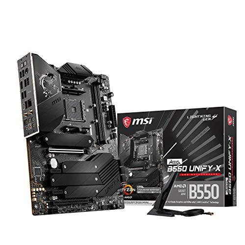MSI MEG B550 UNIFY-X AMD AM4 DDR4 M.2 USB 3.2 Gen 2 WLAN 6 HDMI ATX Gaming Motherboard AMD Ryzen 5000 Prozessoren