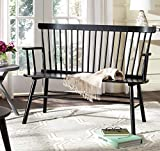 Safavieh American Homes Collection Addison Spindle Back Black Bench