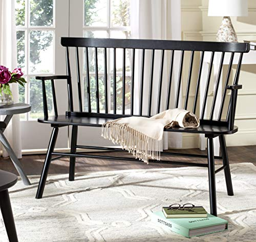 Safavieh Addison Spindle Back Black Bench Now $226.80 (Was $468)