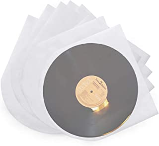 Facmogu 100 Pieces LP Vinyl Record Inner Sleeves, 7 Inch Semi-Transparent Inner Plastic Record Cover Sleeves with 0.08Mm T...