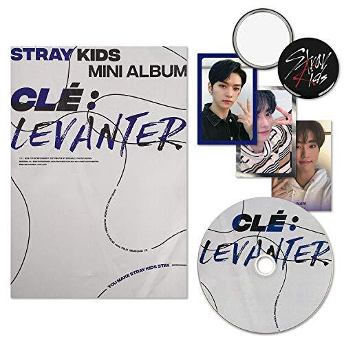 STRAY KIDS Mini Album - Clé : Levanter [ CLE ver. ] CD + Photobook + QR Photocards + CALENDAR POSTER + BOOKMARK + OFFICIAL POSTER + FREE GIFT