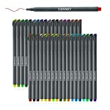 Tanmit 60 Color Gel Pens Art Set for Adults Coloring Book