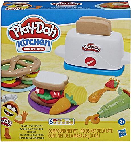 Play-Doh Kitchen Creations Toaster Spielset mit 6 Farben