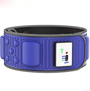 BMAQ Cinturon Adelgazante, Cinturón de Masaje Vibratorio Hay 2 Modos de Masaje Cómodos Adelgazar Cuidado Personal Body Toning Belt Cintura Ajustable (Azul)