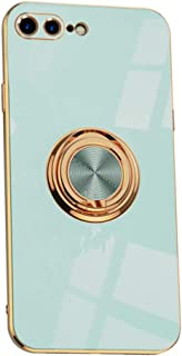 Hicaseer Case for iPhone 7 Plus,Ultra-Thin Ring Shockproof Flexible TPU Phone Case with Magnetic Car Mount Resist Durable ...