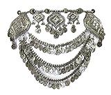 Tribal Boho Metal Coin Chain Womens Belt Handmade Belly Dance Gypsy Hippie Festival Ladies Female Waist Jewelry