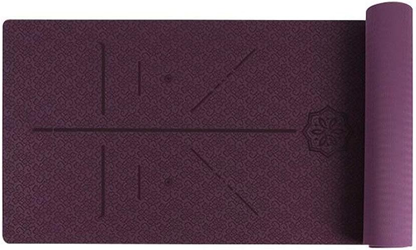Tapis de Yoga Monochrome Anti-dérapant Fitness Dancing Outdoor Portable Baby Crawl Pliable 5 Couleurs en Option