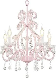 Chandelier Children's Room Crystal Chandelier Pink Princess Girl Bedroom Chandelier E14