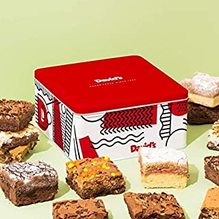 David'S Cookies Assorted Brownies & Crumb Cake Tin – Delicious, Fresh Baked Brownie Snacks – Gourmet Chocolate Fudge Brownies & Crumbcake Slices – Yummy Flavors for Every Special Occasion – 10 pcs