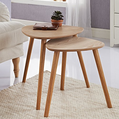 scotrade Brand New Style Malmo Nest of 2 Tables Home Use