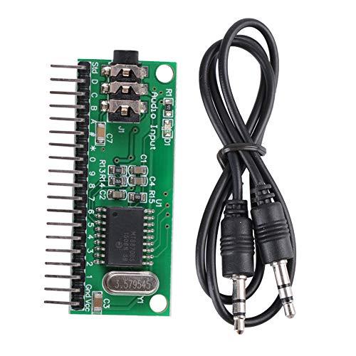 Módulo decodificador de audio Aramox para hogar inteligente, 16 canales MT8870 DTMF, decodificador de audio, controlador de decodificación de voz para teléfono