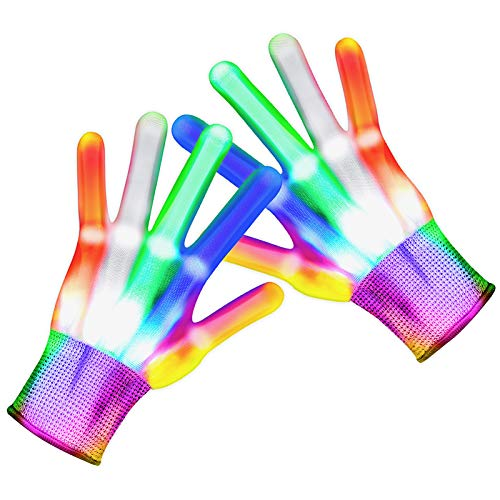 Toys for 3-8 Year Old Boys, Flashing LED Gloves for Kids Led Light up Gloves for Kids Christmas Stocking Stuffer for Kids Birthday Party Xmas Gifts for 3-8 Year Old Boys Girls