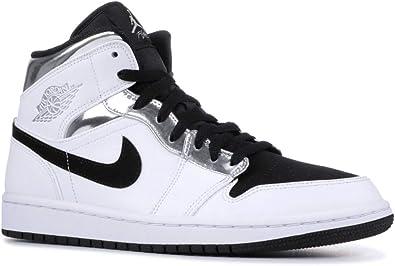jordan air 1 mid blanco y negro