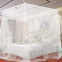 Wit Vier hoek Outdoor Camping Canopy Net met opbergtas Insect Tent Protection Slaapkamer Volledige net 200 * 200 * 180cm-W...