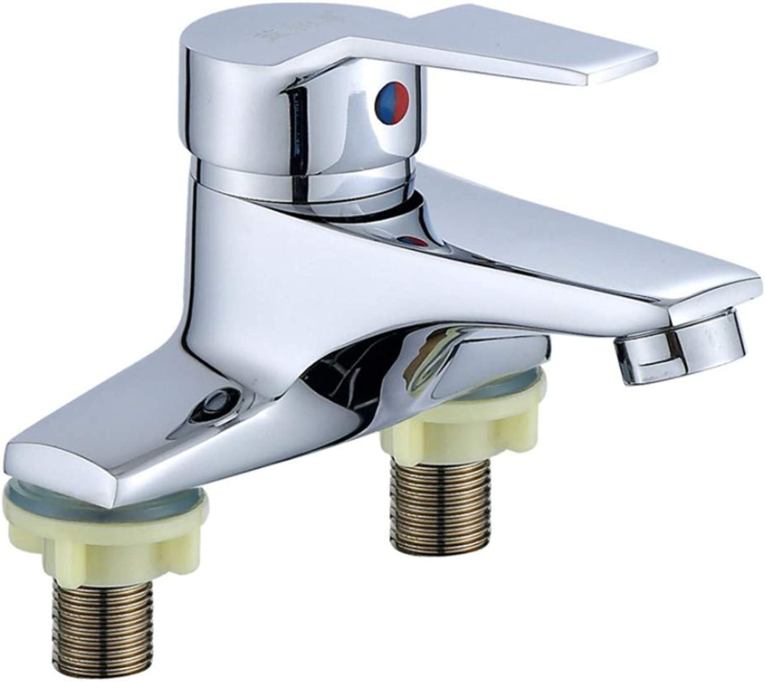 Basin Faucetcopper Double-Hole Basin Faucet Cold and Hot Faucet