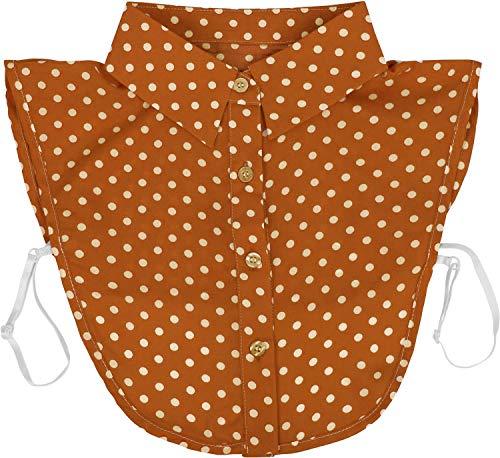 styleBREAKER Dames blouse kraaginzet met puntmotief en knoopsluiting, kraag voor blouses en truien, Rockabilly Style 08020005