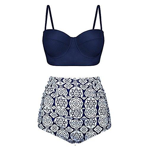 ITISME Maillot De Bain 2 Pieces Femme Push Up Bandeau Sexy 2019 Chic Vêtements Élégant Natation Plage Bikini Ensemble