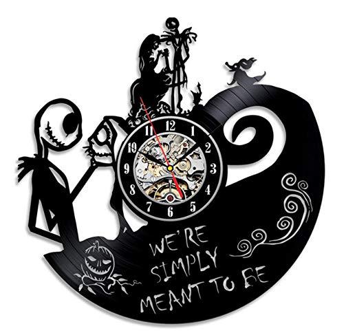 Liushenmeng Reloj Disco de Vinilo Pareja romantica Discos de Vinilo Reloj de Pared Reloj de Vinilo Vintage Relojes de Pared Decoración para el hogar Hechas a Mano Art diámetro 30cm