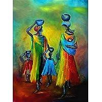 大人のためのジグソーパズル500ピースパズルの 家カラフルなアフリカのキャラクターアートジグソーパズル家族の楽しいゲームジグソーパズル大人のための500ピース十代の若者たちDIY家庭用教育玩具-23x15インチ