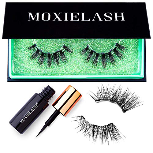 MoxieLash Money Kit - Mini Magnetic Liquid Eyeliner for Magnetic Eyelashes - No Glue & Mess Free - Fast & Easy Application - Set of Money Lashes & Instructions Included